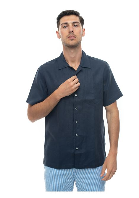 Short-sleeved linen shirt Brooks Brothers | 6 | 100160379BLU