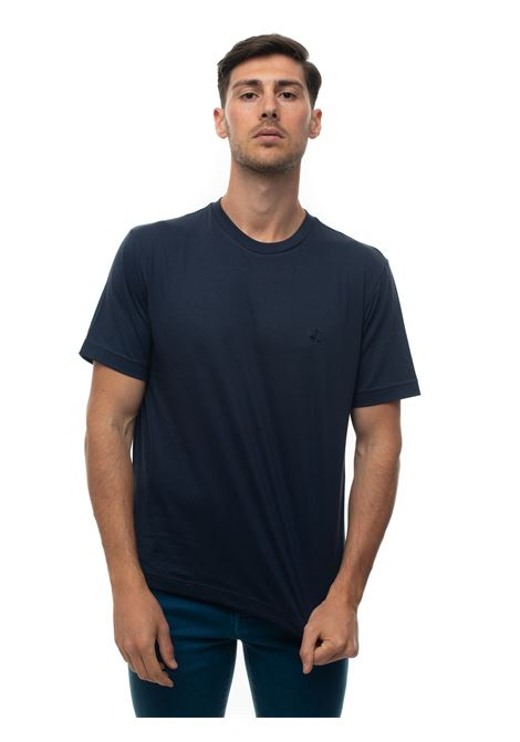 Short-sleeved round-necked T-shirt Brooks Brothers | 8 | 100162151BLU