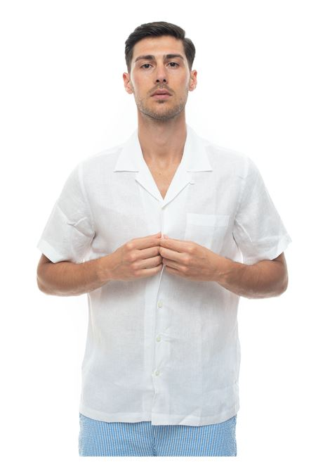 Short-sleeved linen shirt Brooks Brothers | 6 | 100163506BIANCO