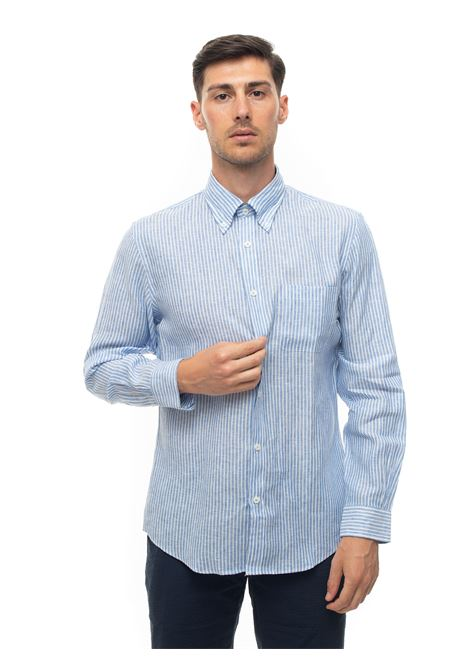 Long-sleeved linen shirt Brooks Brothers | 6 | 100164179AZZURRO