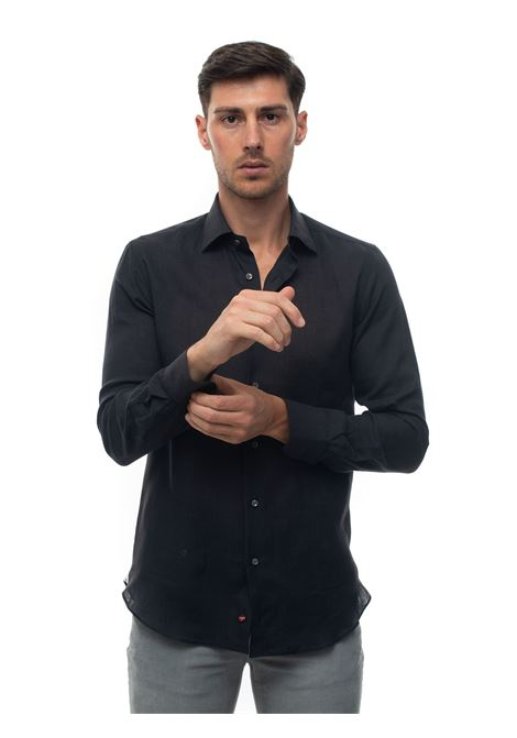 Long-sleeved linen shirt Carrel | 6 | 416-6837NERO