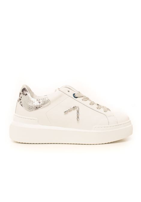 Sneakers in pelle con lacci Sarah Ed Parrish | 5032317 | CKLD-ST21BIANCO