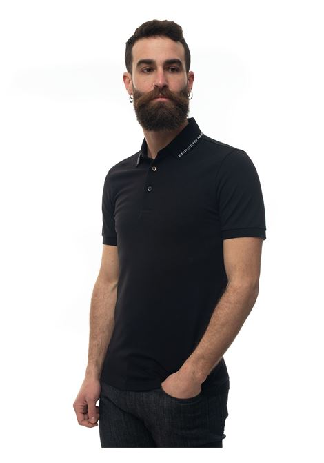 Short-sleeved polo shirt in piquè Emporio Armani | 2 | 3H1FL9-1JPTZF070