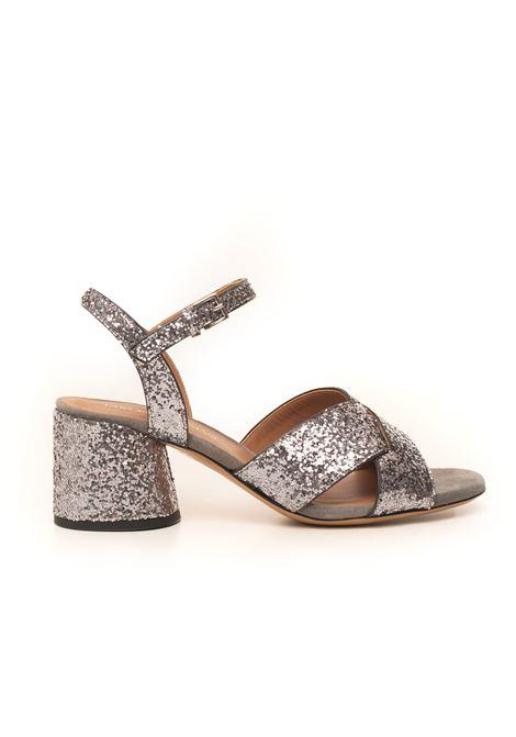 Sandalo a fascia in pelle Emporio Armani | 20000009 | X3P723-XD19800078