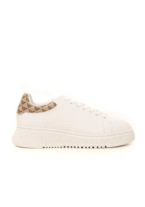 Leather sneakers with laces Emporio Armani | 5032317 | X3X024-XM327R779