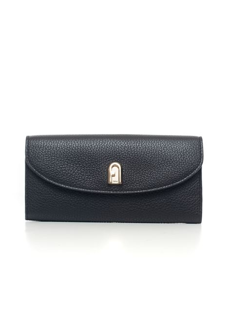 Furla sleek Zip leather wallet big size Furla | 63 | SLEEK-PCM9-HSFO60-NERO