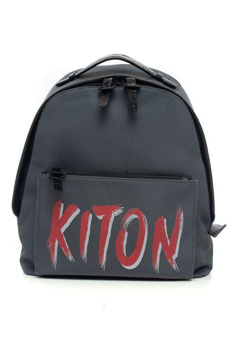 Zaino di pelle e cordura Kiton | 5032307 | UBCOOK-N0074404008