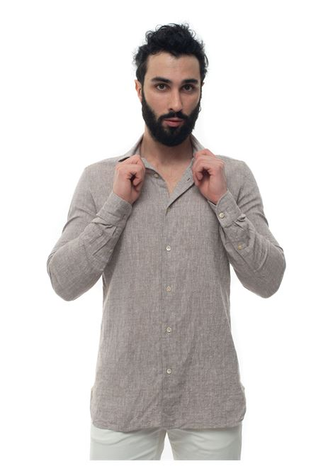 Mixed linen shirt long sleeve Luigi Borrelli | 6 | EV08_FA24-S903060