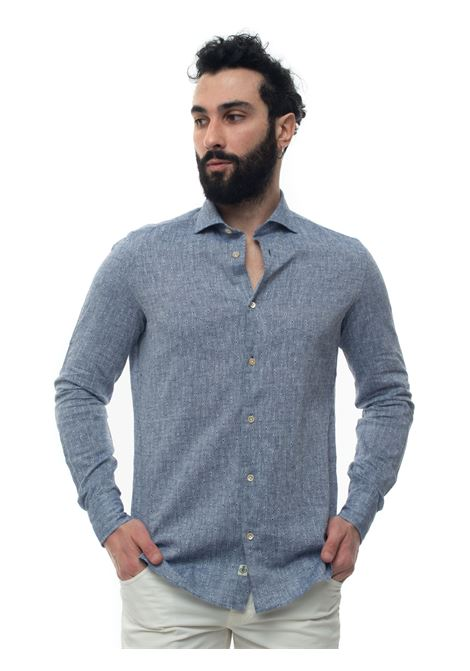 Mixed linen shirt long sleeve Luigi Borrelli | 6 | EV08_FA24-S903072