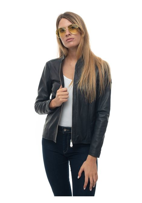 Leather harrington jacket Peuterey | -276790253 | LOVER_WS04-PED3560-99011855215