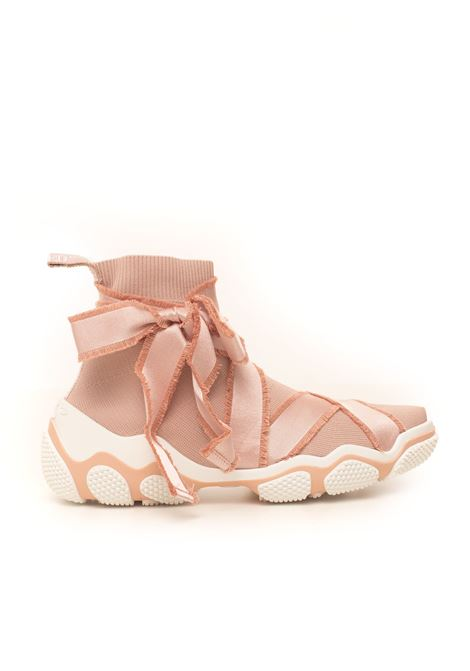 High sneakers in fabric Red Valentino | 5032317 | TQ2S0B89-MUZ11N