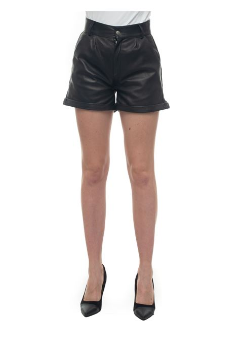 Leather shorts Roy Rogers | 15 | SHORT_WOMAN-NAPPABLACK