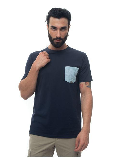 T-shirt Roy Rogers   8   T-SHIRT_POCHET-CHAMBRAYBLU NAVY