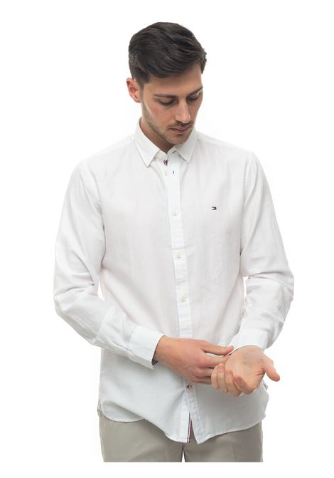 Long-sleeved linen shirt Tommy Hilfiger | 6 | MW0MW12761YBR