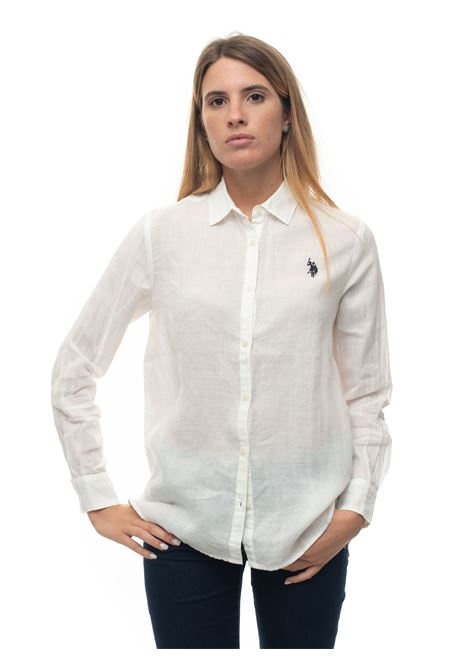 Long-sleeved linen shirt US Polo Assn | 6 | 56121-52760101