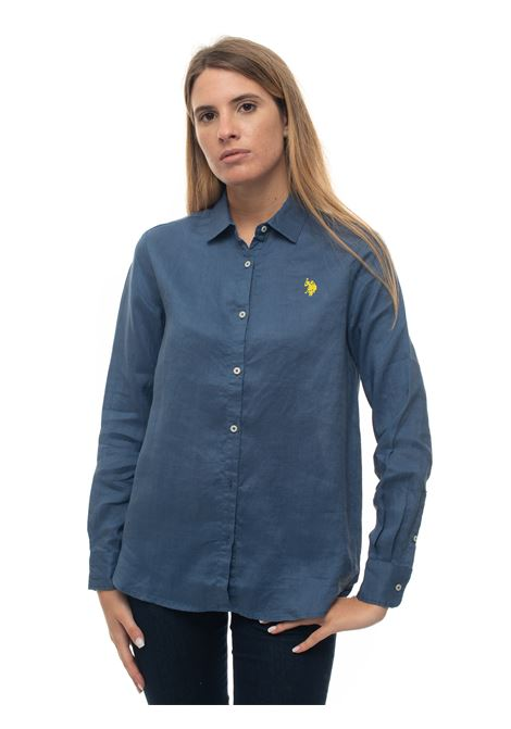 Long-sleeved linen shirt US Polo Assn | 6 | 56121-52760278