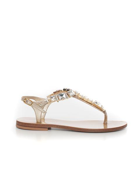 Leather sandals Vincenzo Piccolo | 20000009 | V05-CAMOSCIOPLATINO