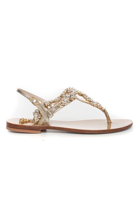 Leather sandals Vincenzo Piccolo | 20000009 | V08-PELLEPLATINO