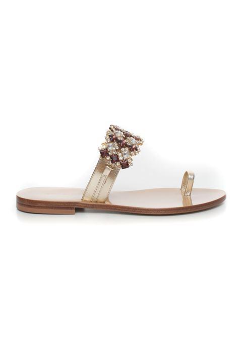 Sandalo in pelle Vincenzo Piccolo | 20000009 | V11-PELLEPLATINO