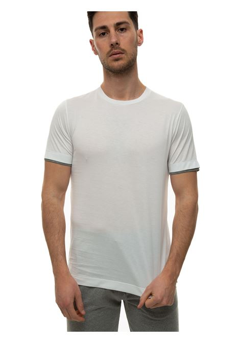 Short-sleeved round-necked T-shirt Canali | 8 | T0691-MJ01037001