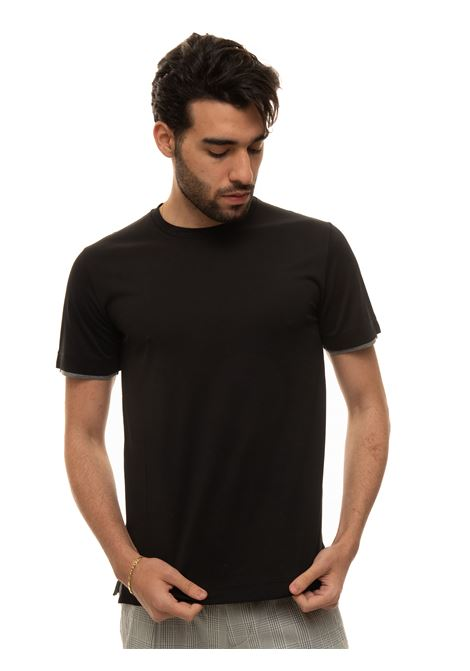Short-sleeved round-necked T-shirt Canali | 8 | T0691-MJ01037100