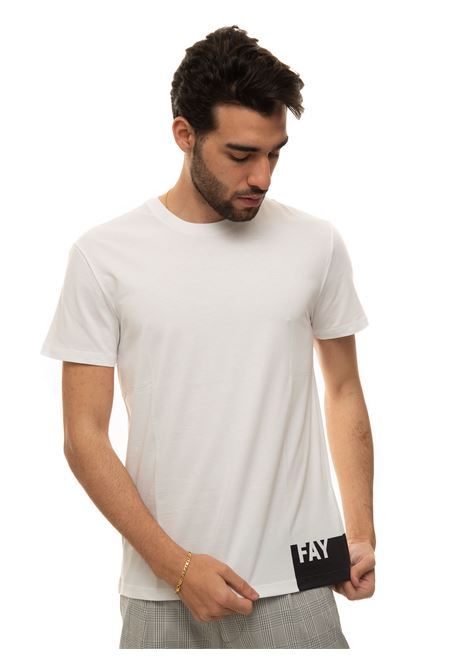 T-shirt with short sleeves and round-neck Fay | 8 | NPMB3421310-SHOB001