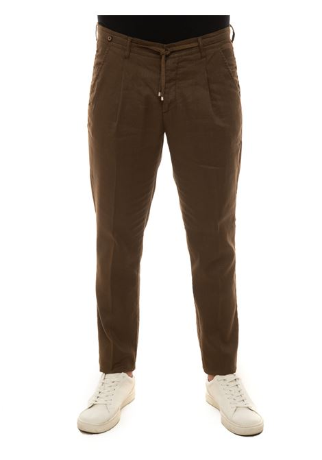 Linen trousers with drawstring Filetto | 9 | DAHLI-JUNGLELINO08