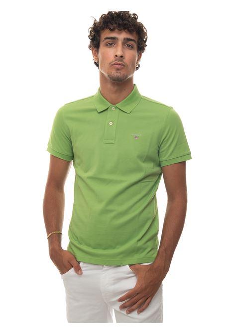 Short-sleeved polo shirt in piquè Gant | 2 | 2201330