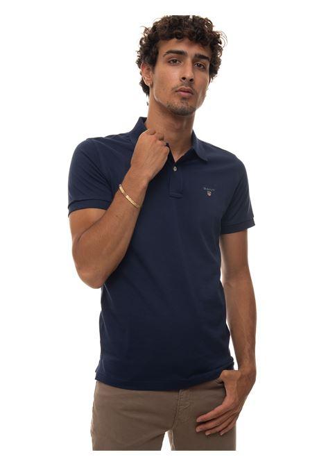Short-sleeved polo shirt in piquè Gant | 2 | 2201433
