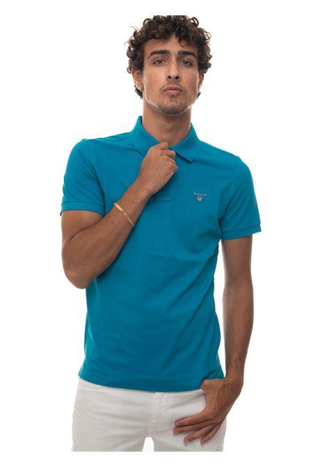 Short-sleeved polo shirt in piquè Gant | 2 | 2201460