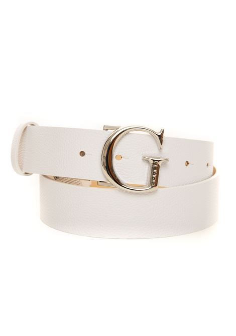 Buckle belt with logo detail Guess | 20000041 | BW7451-VIN35WHI