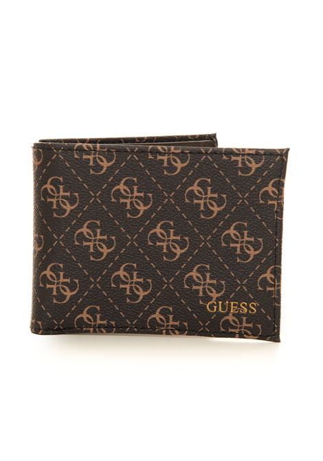 Zip leather wallet medium size Guess | 63 | SMVEZL-LEA27DKB