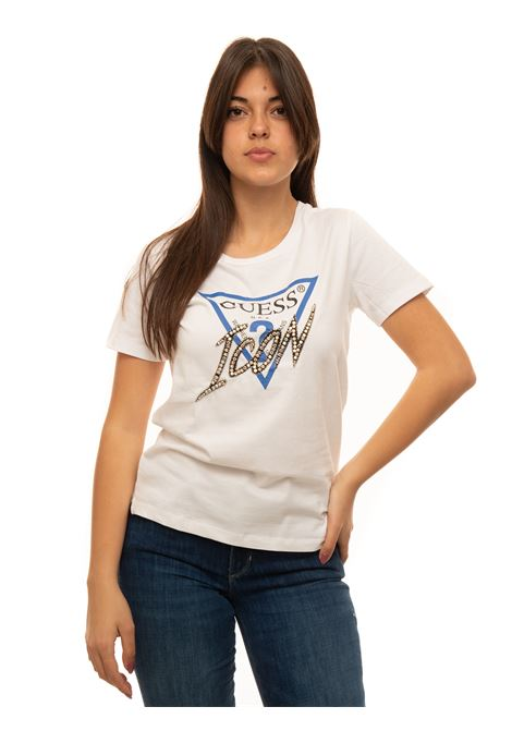 T-shirt girocollo Guess | 8 | W1RI25-13Z00TWHT