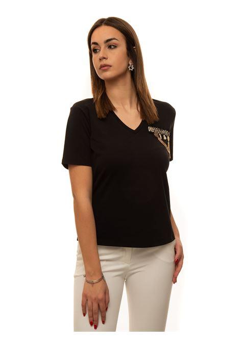 T-shirt collo a V Liu Jo | 8 | CA1247J5003U9210