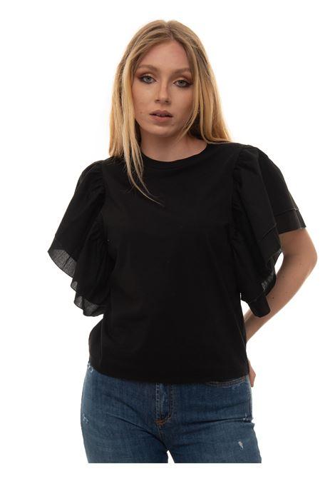 Round-necked T-shirt Roy Rogers | 8 | P21RND466CA450000NERO