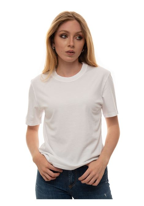 Round-necked T-shirt Roy Rogers | 8 | P21RND469CA450000OPTICALWHITE
