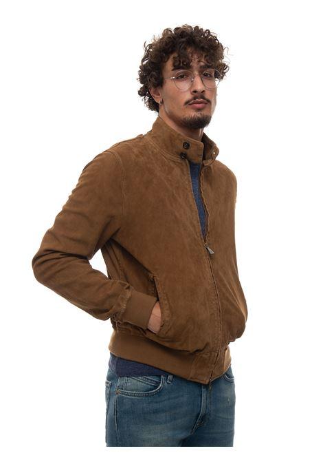 Leather harrington jacket Roy Rogers | -276790253 | P21RRU800CA58XXXX5BEIGE