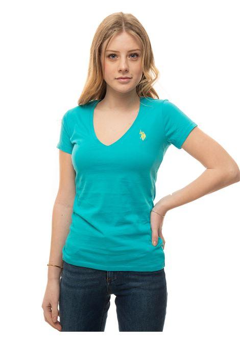 T-shirt collo a V US Polo Assn | 8 | 59902-51520230
