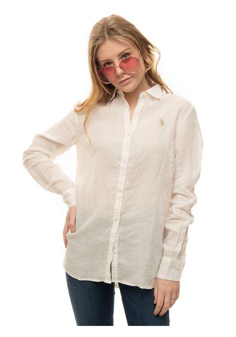 Long-sleeved linen shirt US Polo Assn | 6 | 60066-52760101