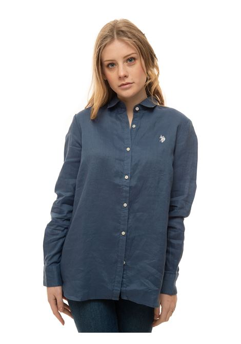 Long-sleeved linen shirt US Polo Assn | 6 | 60066-52760138
