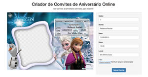 Fazer convite de aniversario online gratis para imprimir