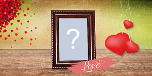 Love photo frame with wood frame! Create yours...