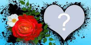 Linda Moldura de Coração com Flores. Faça a Sua c/Foto!
