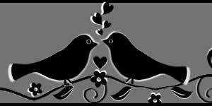 Moldura de passarinhos com você + 4 amigos em preto e branco