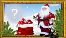 Linda Moldura de Natal com Papai Noel. Coloque sua foto!