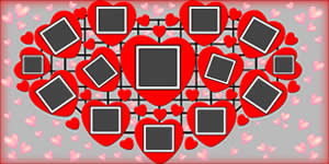 Hearts Mosaic with your photo +13 Friends
