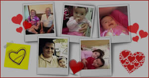 Photo collage with 5 photos and a lot of hearts. Create yours...