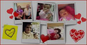 Collage con 5 fotos y un montón de corazones. Crea la tuya...