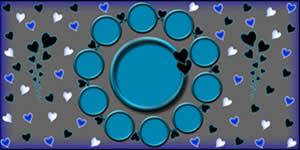 Moldurinha Com Fotos em Circulos Azuis. Faça a Sua!