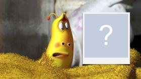 Moldura do desenho animado Larva da Netflix